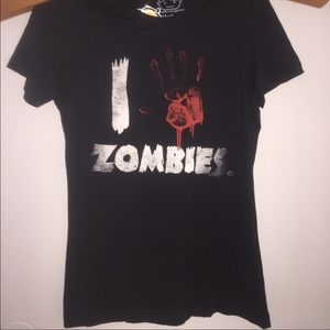 Goodie Two Sleeves T-Shirt ZOMBIE top New